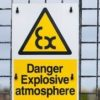 explosive warning sign